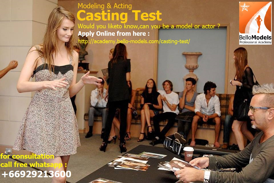Casting test for models actors by international bello models academy paris
