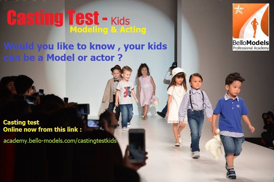 Modeling & Acting Casting test . bello models academy Paris