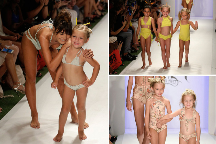 female kid models cat walk training by international bello Models academy paris