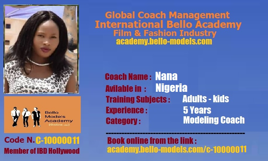 International Privat Modeling Coach Nigeria from Bello Models Management